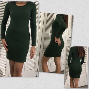 Bodycon Slim Green One Piece Dress - Divided H&M